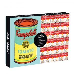 Galison Andy Warhol Campbell's Soup Cans Puzzle 500pc. Box shown.