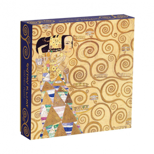 Galison Gustav Klimt Puzzle 500pc. Box shown. Klimt's Expectation is the puzzle image.