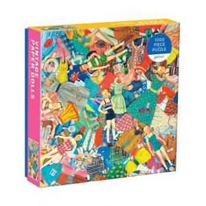 Galison Vintage Paper Dolls Puzzle 1000pc. Box shown.