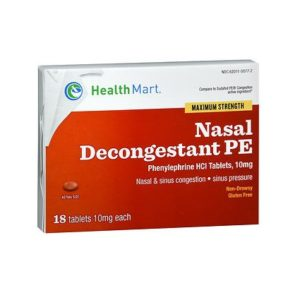 Healthmart Nasal Decongestant 18. Box shown.