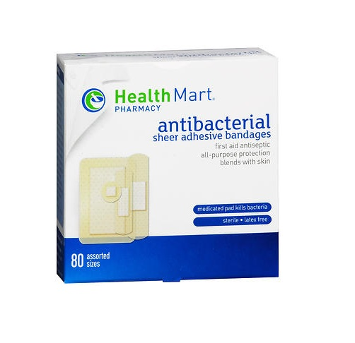Healthmart Sheer Bandages 80 assorted sizes. Box shown.