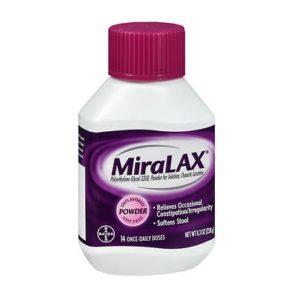 Miralax 8.3oz. Bottle shown.