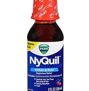 Nyquil Cherry 8oz. Bottle shown.