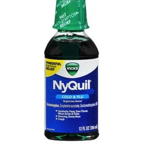 Nyquil Original 12oz. Bottle shown.