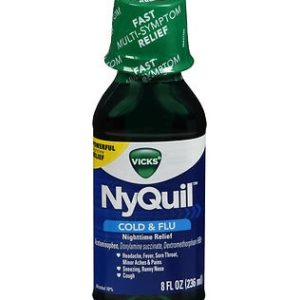Nyquil Original 8oz. Bottle shown.