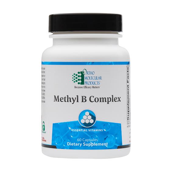 Ortho Molecular Methyl B Complex Supplement 60 capsules. Bottle shown.