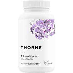 Thorne Adrenal Cortex 60 Caps. Bottle shown.