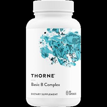 Thorne Basic B Complex 60 Capsules. Bottle shown.