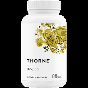 Thorne D-5,000 60 capsules. Bottle shown.