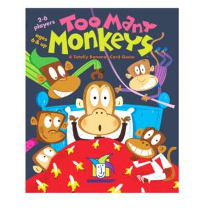 Too Many Monkeys Card Game. Box shown.