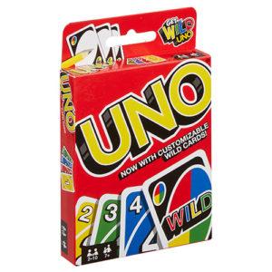 UNO Card Game. Box shown.