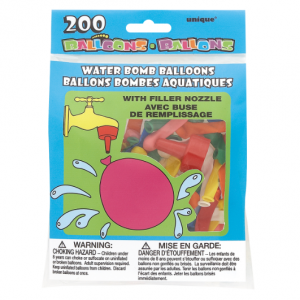200 Water Balloons. Packaging shown.