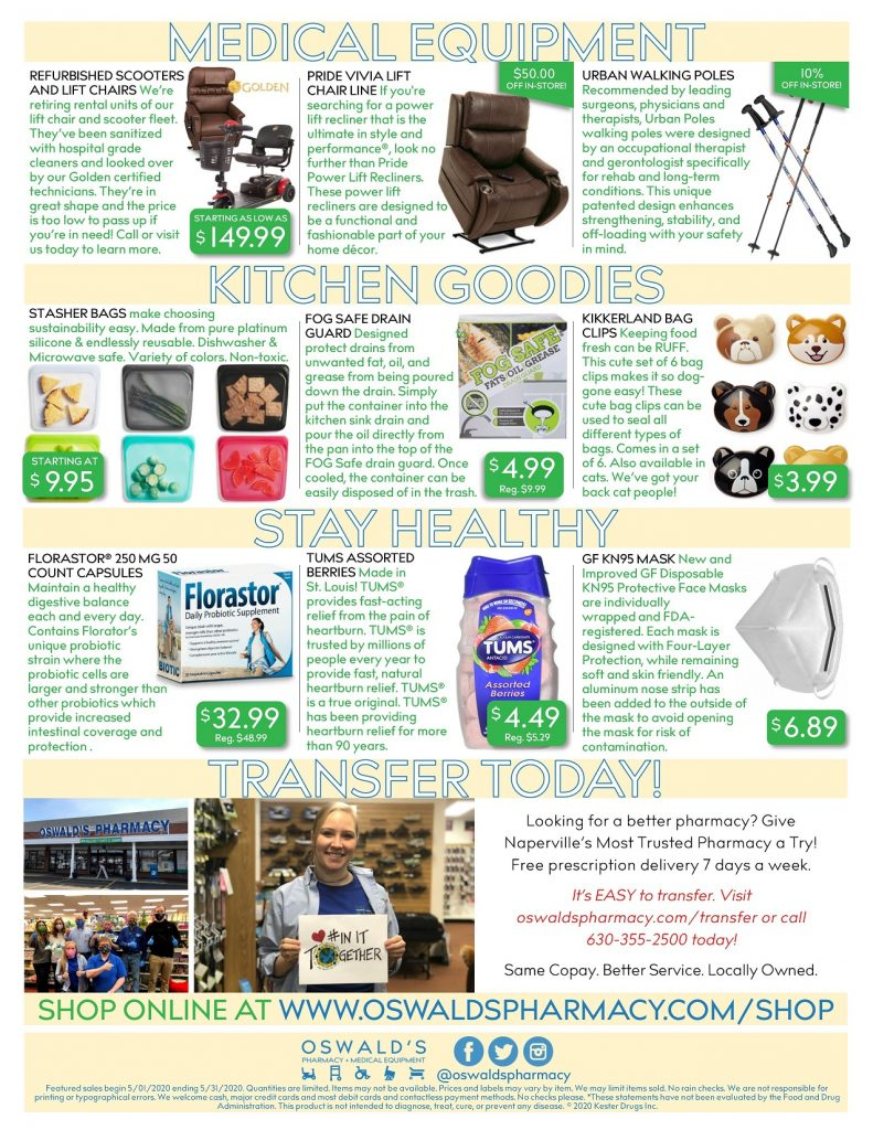 May 2020 Sales Flyer BACK