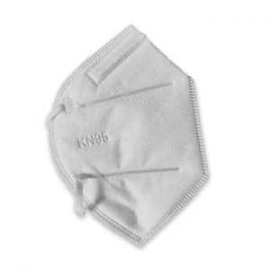Suncare K95 Individual Mask. Single mask shown folded on its side.