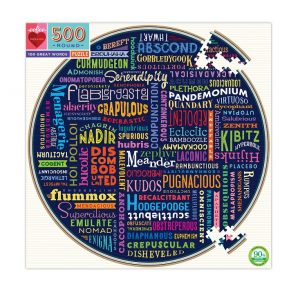 eeBoo 100 Great Words 500pc Puzzle. Box shown.
