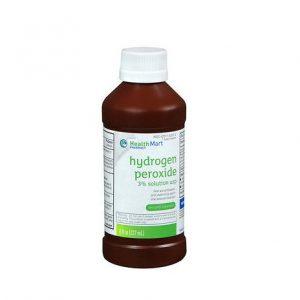 HealthMart Hydrogen Peroxide 8oz. Bottle shown.