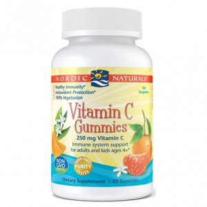 Nordic Naturals Vitamin C Gummies 60. Bottle shown.