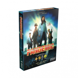 Pandemic Board Game. Box shown.