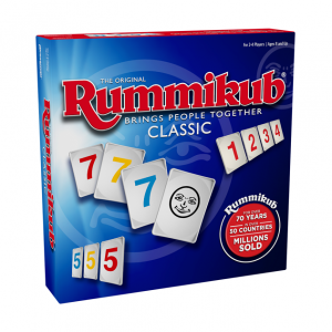 Rummikub Classic game. Box shown.