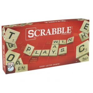 Scrabble Crossword Game. Box shown.