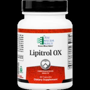 Ortho Molecular Lipitrol OX 60 Caps. Photo of the bottle.