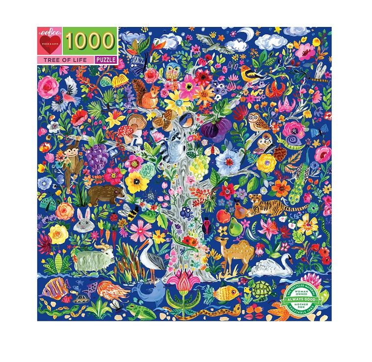 eeBoo Tree of Life 1000pc Puzzle. Box shown.
