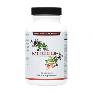 Ortho Molecular Mitocore 60 Capsules. Bottle shown.