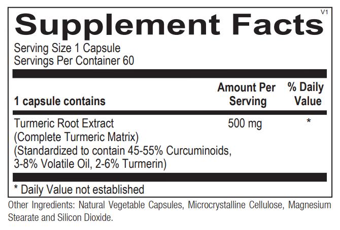 Ortho Molecular Turiva Supplement Facts