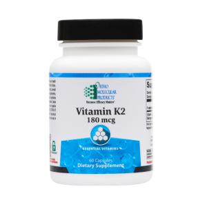 Ortho Molecular Vitamin K2 180mcg 60 Capsules. Bottle shown.