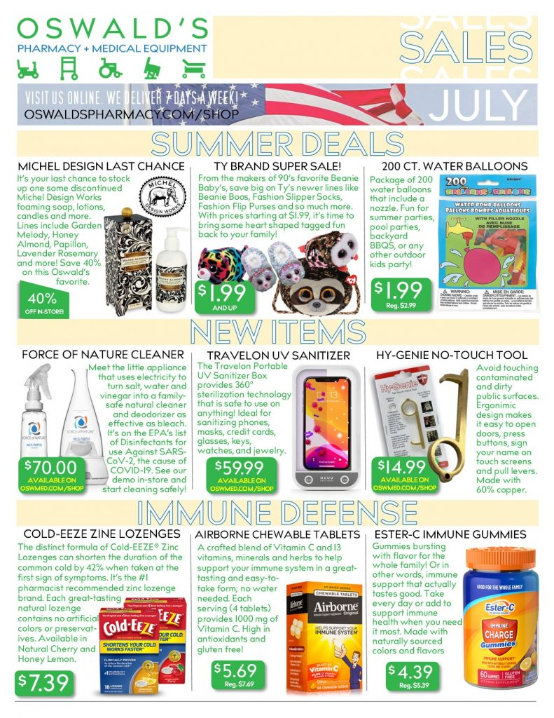 July 2020 Sales Flyer FRONT.
