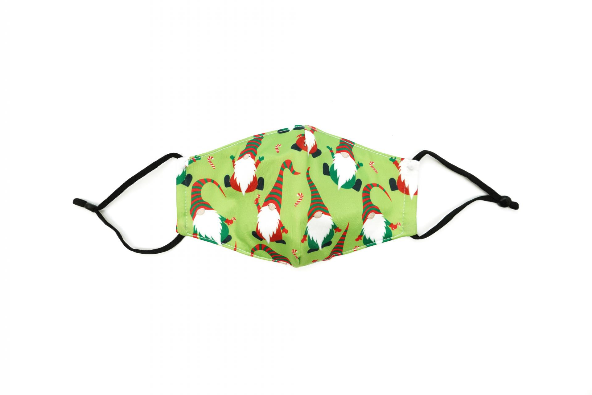 Care Cover Protective Mask Kids Festive Gnomes. Kids protective mask with a festive gnomes print.