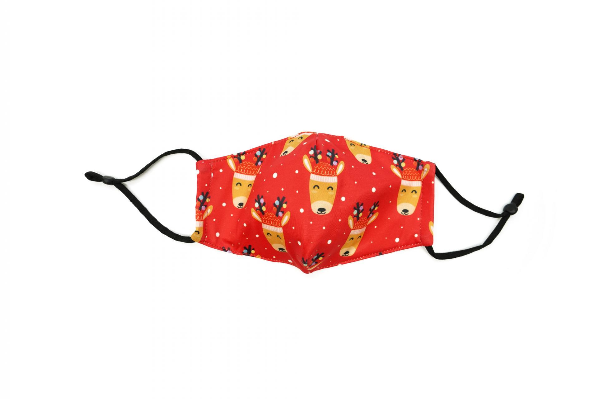 Care Cover Protective Mask Kids Reindeer. Kids protective mask with a reindeer print.