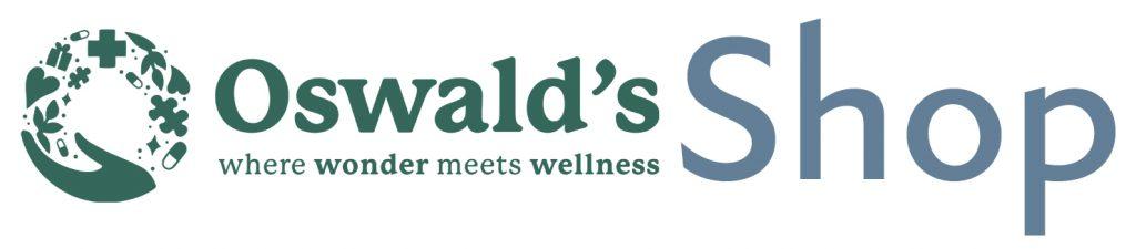 Oswald's shop logo. Where wonder meets wellness.