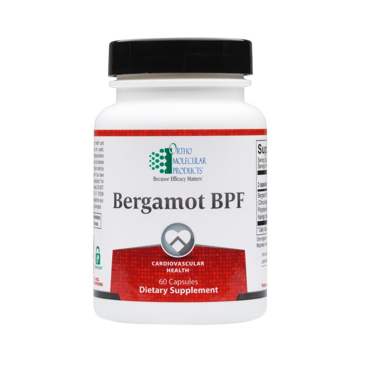 Ortho Molecular Bergamot BPF 60 Capsules product image. Photo of the bottle.