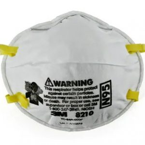 3M Particulate Respirator N95 Face Masks 20 Pack. Photo of an individual 3M N95 Mask.