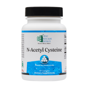 Ortho Molecular N Acetyl Cysteine. Photo of the bottle.